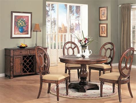 natural wood dining room sets distressed natural wood dining room set w round table