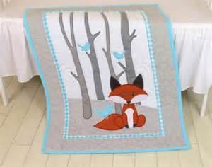 Baby Boy Bedding Etsy Fox Blanket Fox Nursery Quilt Baby Boy Quilt Boy Crib