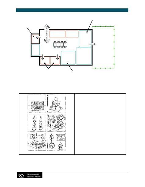 Va Nursing Home Design Guide Figure 3 28 Memory Support In A Program Room