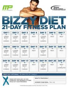 the bizzy diet 21 day fitness plan overview bodybuilding