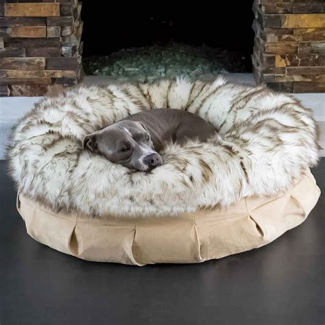 fur dog bed animals matter 174 faux fur shag puff