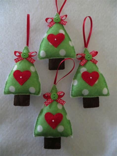 hand stitched felt christmas tree ornament felt