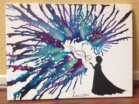 disney s frozen themed melted crayon art disney s quot frozen quot themed melted crayon art disney http