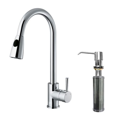 tall kitchen faucet with spray vigo vg02005chk2 chrome kitchen faucet single handle with