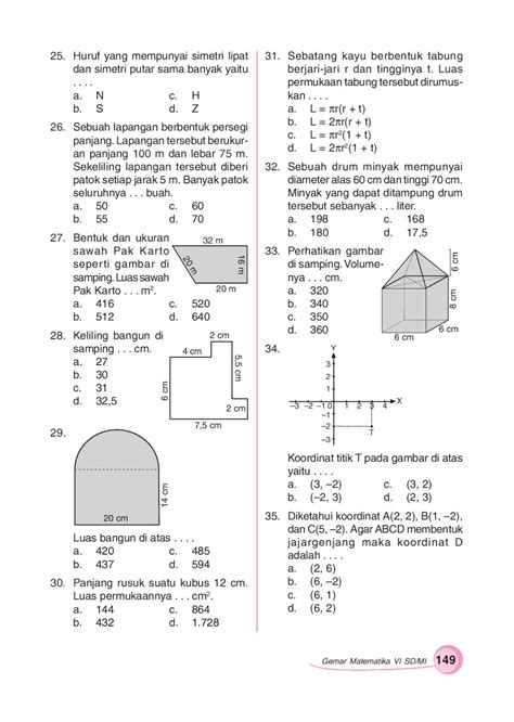 Minyak Tawon Ukuran Ee kelas06 gemar mtk sumanto by darsono page 156 issuu