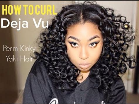 kinky perm straight by deja vu how to curl deja vu perm kinky yaki youtube