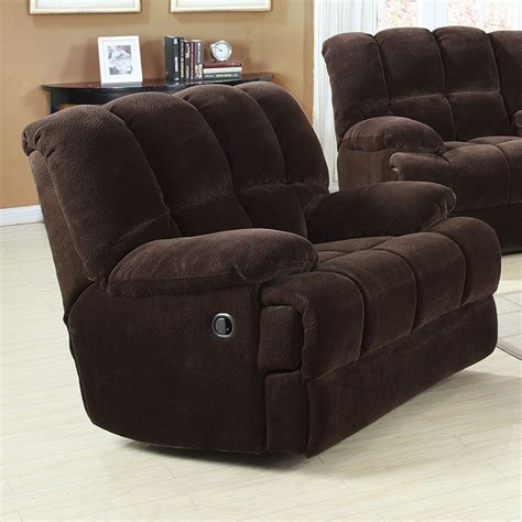 Plush Recliner by Ahearn Living Room Furniture Rocker Recliner Chair