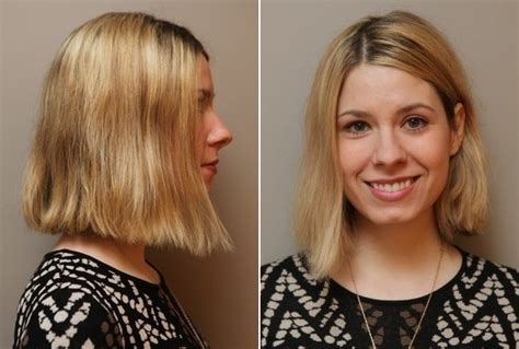 long bob haircuts diy start with a haircut that s chin length or slightly longer