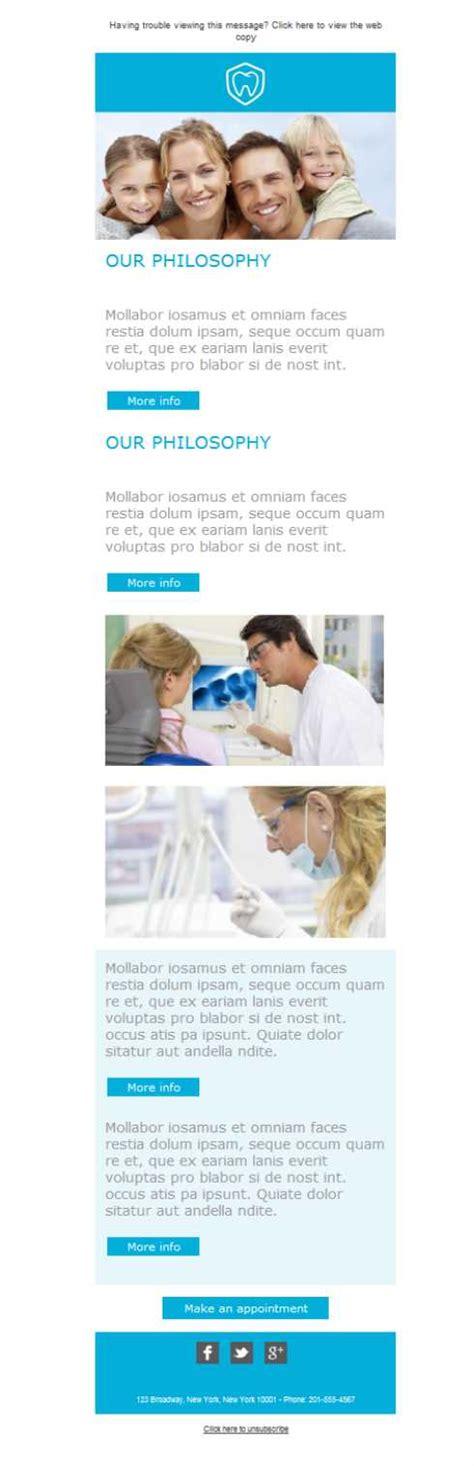 dental newsletter template free email templates design dentist family