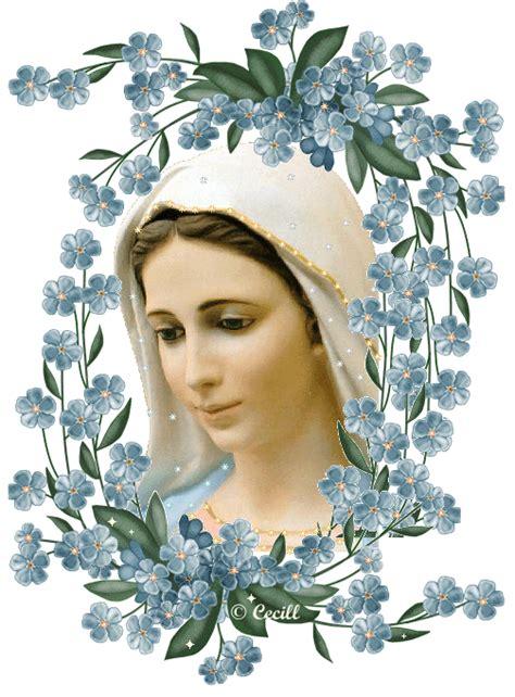 imagenes de la virgen maria faciles 13 im 225 genes de la virgen mar 237 a con muchas flores