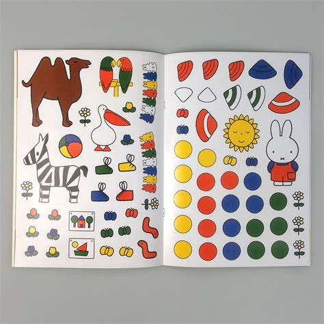 miffy dress up coloring sticker book moon picnic