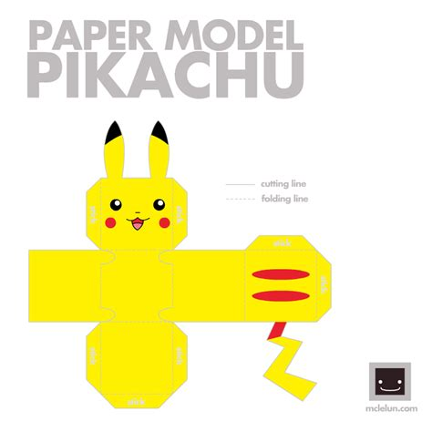 Easy Papercraft Templates - pichu s place paper crafts