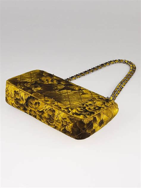 New Arrival Prada Leaf 8103 2 prada yellow brown leaf print quilted fabric shoulder bag
