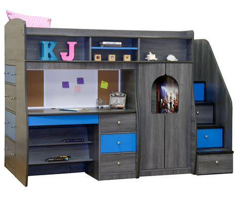 loft beds for kids with desk berg furniture play and study twin size loft bed kids