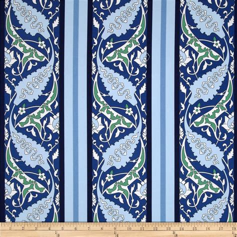 Blue Home Decor Fabric | snow leopard designs iznik home decor sateen beyati blue