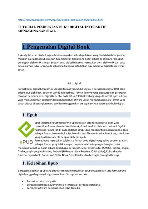 format epub adalah buku digital e pub slideshare download lengkap