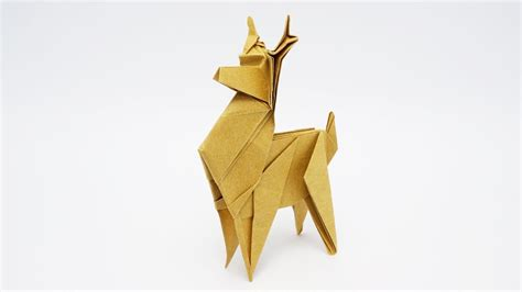 How To Make A Paper Deer - origami reindeer jo nakashima
