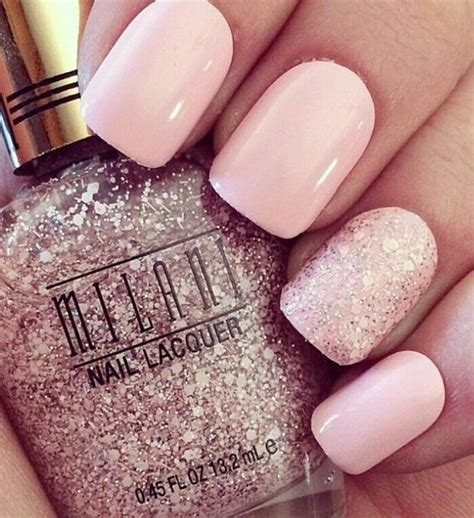 Rosa Glitzer Nägel 5007 by Milani Glitter Nails Pictures Photos And Images For