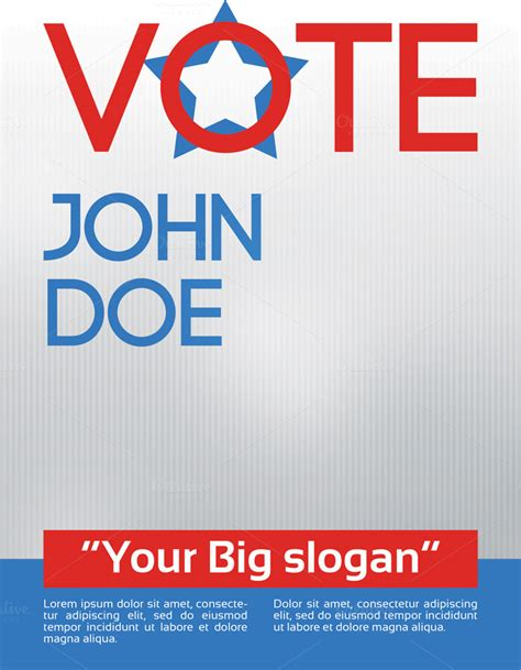 election caign poster template vote election flyer template flyer templates on creative