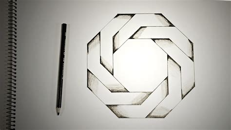 doodle exhausted pentagram optical illusions how to draw twisted octagon