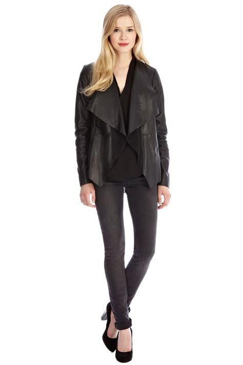 Jacket Distro Blackid 2 lyst oasis waterfall leather jacket in black