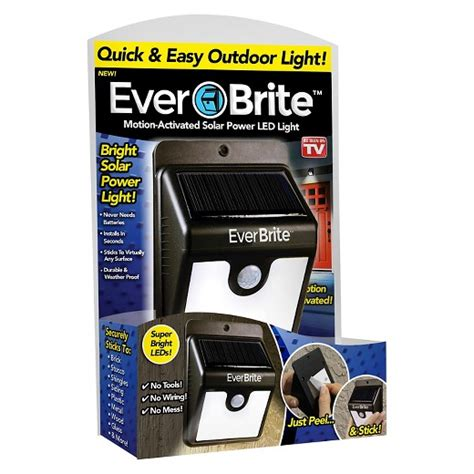 brite solar light as seen on tv 174 brite outdoor solar light black target