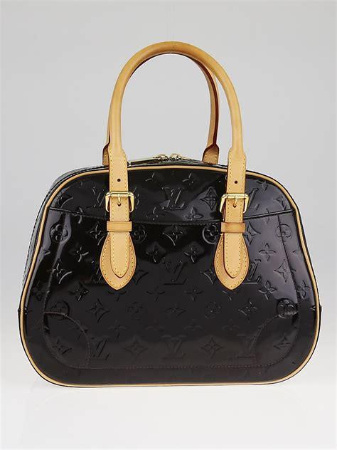 Louis Vuitton Summit Drive Vernis Bag Tas Asli Ori Authentic Louis Vuitton Amarante Monogram Vernis Summit Drive Bag