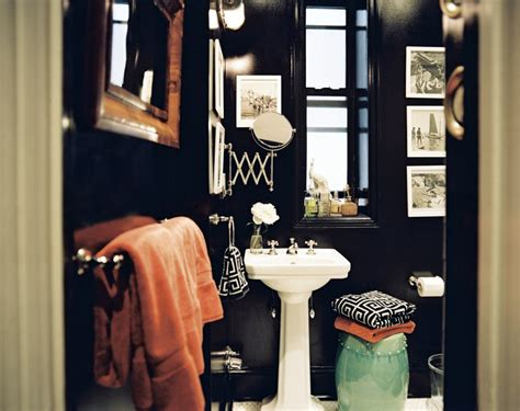 dark painted bathrooms decor disputes does dark paint make a room feel smaller