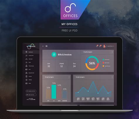 ui pattern psd free dashboard ui design psd css author