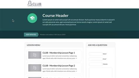 Optimizepress Club Club Membership Course Page Template Youtube Membership Page Template