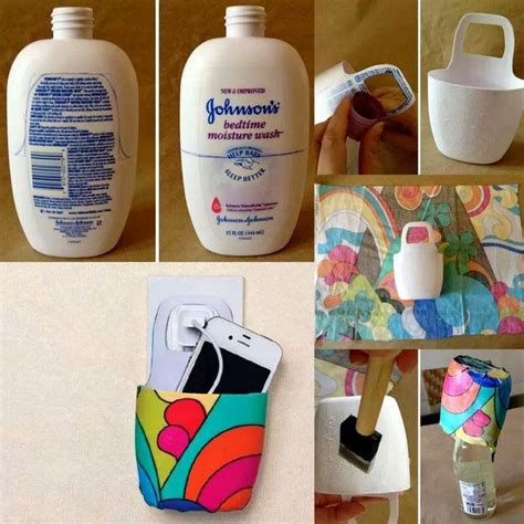 recycle shoo bottle into phone holder charger great recycling ideas charger