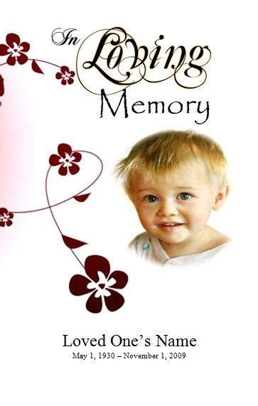dark blue flower memorial service program templates by canva