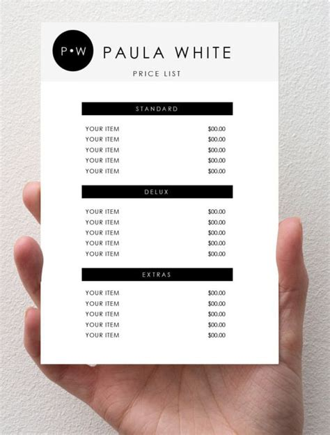 bar price list template the 25 best price list ideas on price
