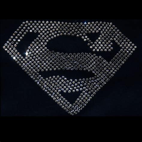 iron on superman iron on rhinestone transfer ebay