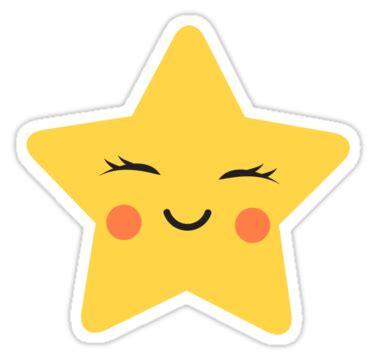 """cute kawaii star sticker"" stickers by mheadesign | redbubble"