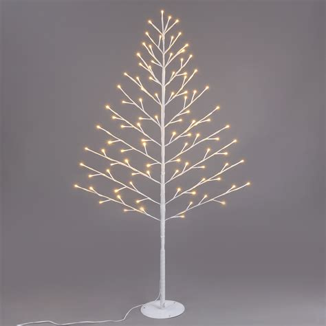 4ft 96 led pre lit flat twig christmas tree warm white