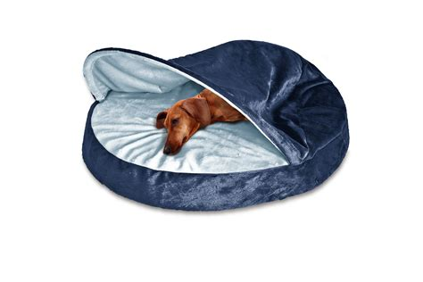 furhaven pet bed furhaven microvelvet snuggery orthopedic dog cave bed pet
