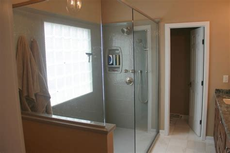 master baths with walk in showers project of the month master bath with a doorless walk in