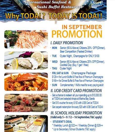seafood buffet discount todai international buffet daily promotions singaporesupermarketrecipes