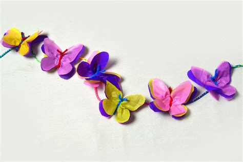 How To Make Butterflies Out Of Paper - 3 ways to make tissue paper butterflies wikihow