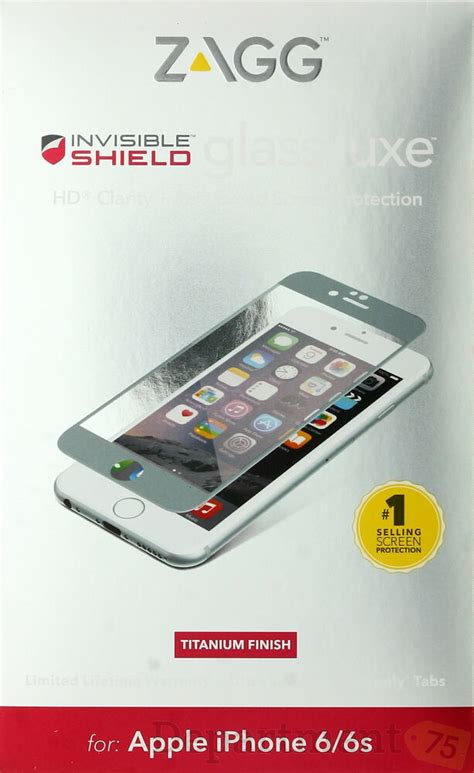 zagg invisible shield glass luxe for apple iphone 6 6s ebay
