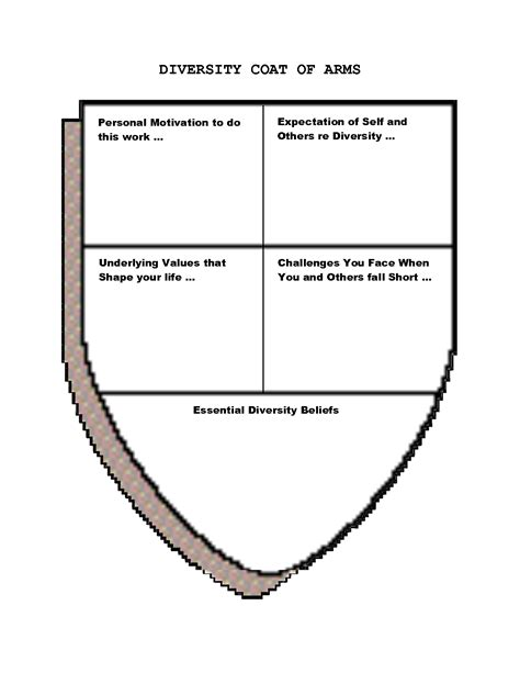 coat of arms template for students blank crest shield pictures
