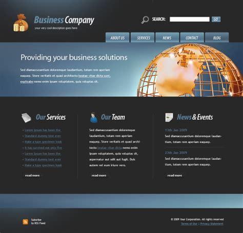 golden globe website template 4426 business website
