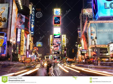 Times Square By Night Editorial Stock Image - Image: 4454929