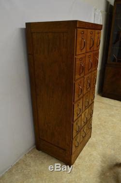 Antique 18 Drawer Mccall Pattern Cabinet Oak Store File