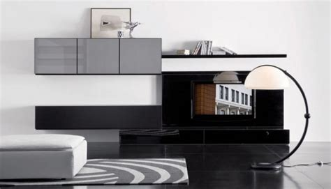 modern lacquered tv cabinets spazio box from pianca modern living room wall mounted cabinet and tv stand