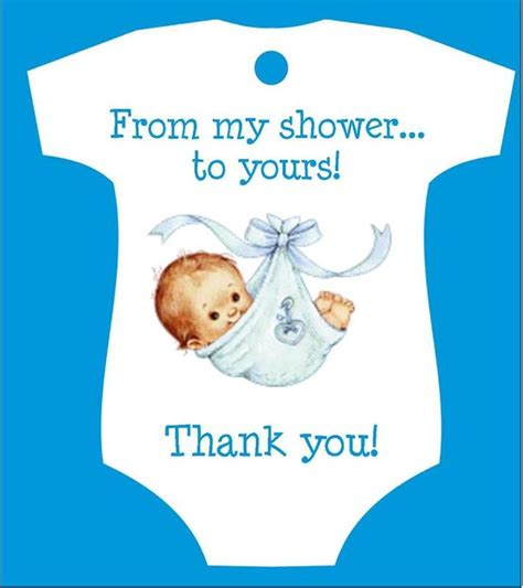 baby shower quot from shower to yours quot favor tags t1