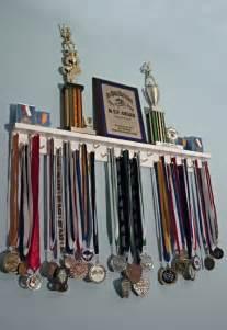 3 running medal holder and trophy shelf by medalawardsrack