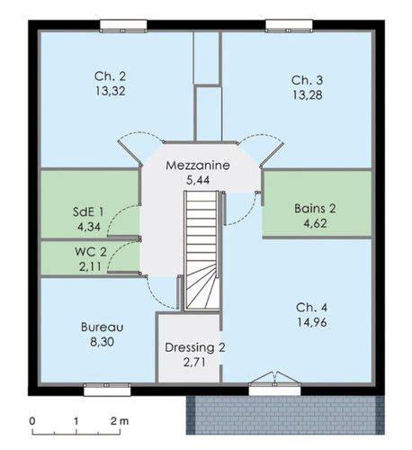 plan pavillon 100m2 plan etage maison maison familiale 3 plan maison