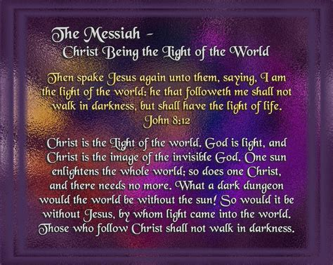 scripture about being the light 17 best images about the messiah on
